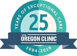 The Oregon Clinic 25th Anniversary Logo